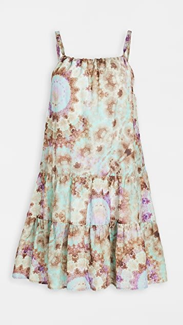 Tie Dye Venice Gathered Mini Dress