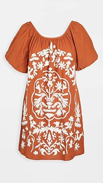 Fiona Embroidered Mini Dress