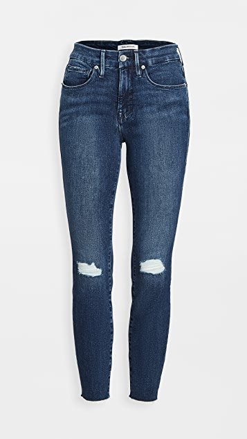 Good Legs Crop Jeans with Raw Edge