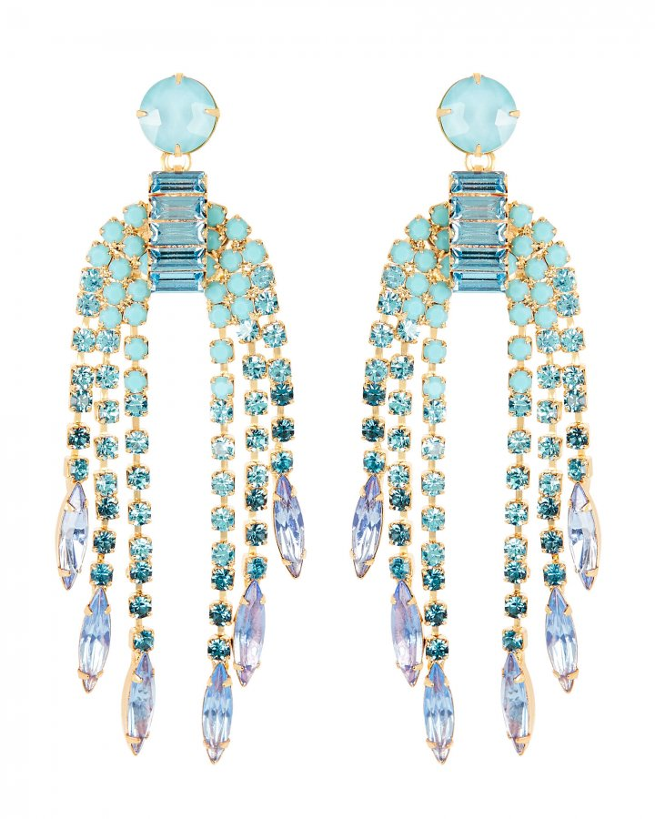 Darla Crystal Fringe Earrings