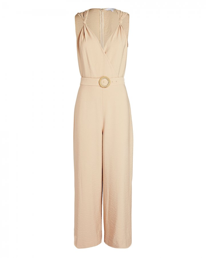 Paula Belted Twill Jumpsuit