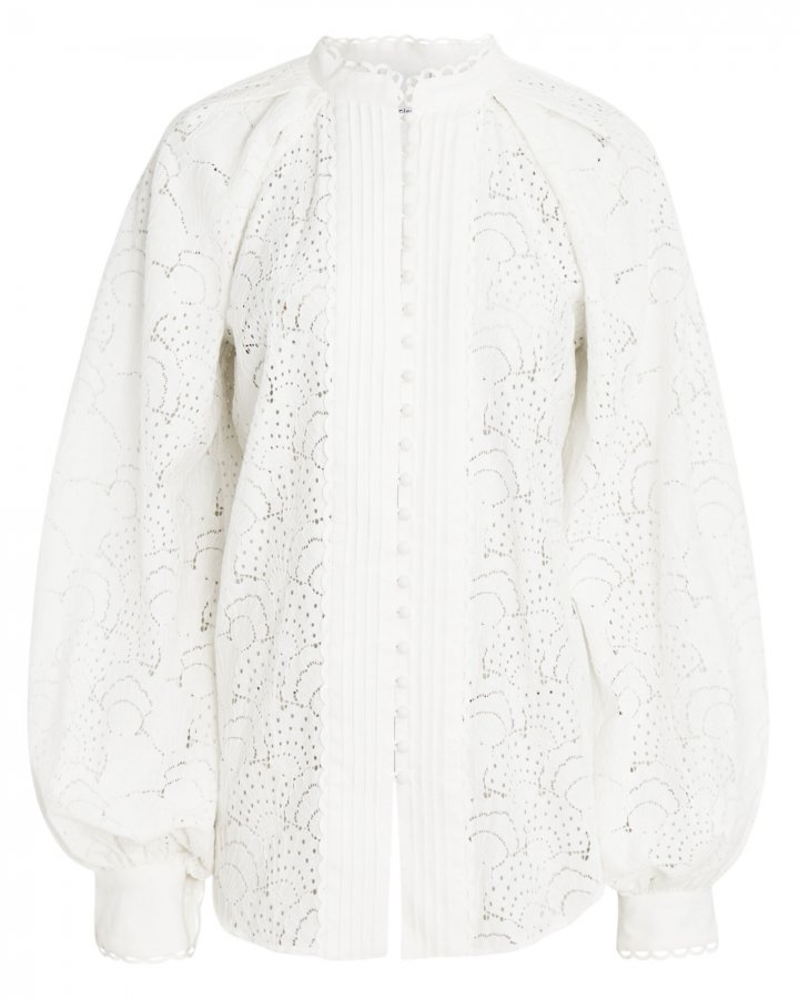 Cookes Balloon Sleeve Lace Blouse