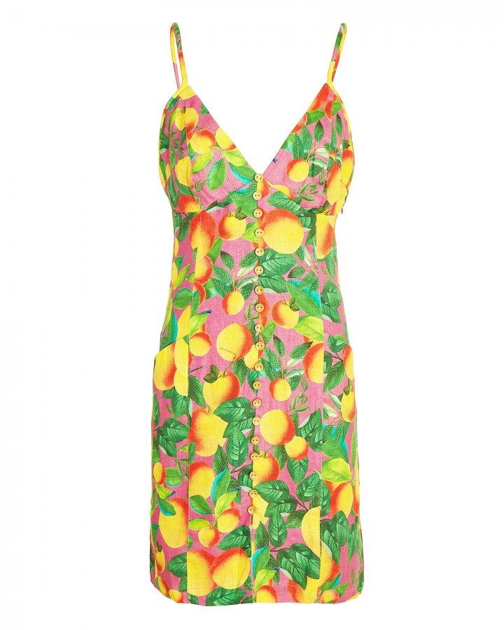 Sunset Linen Mini Dress
