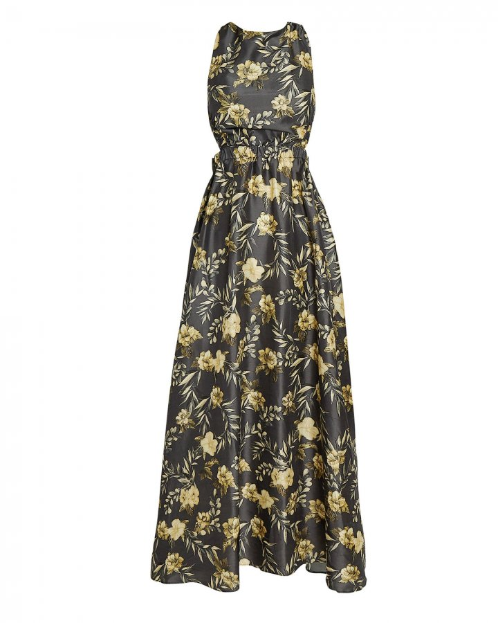 Carmen Floral Print Maxi Dress