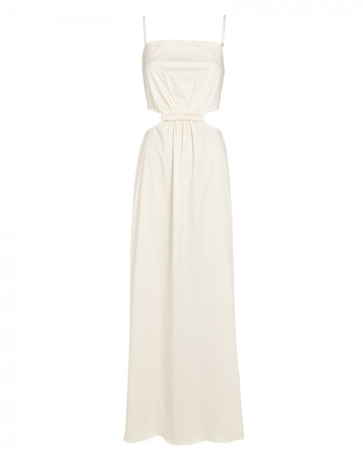 White Sand Cut-Out Maxi Dress