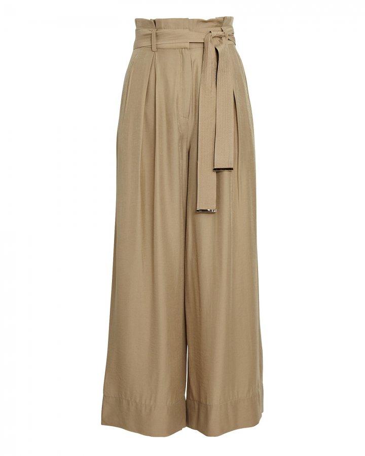 Matilda Paperbag Wide-Leg Pants