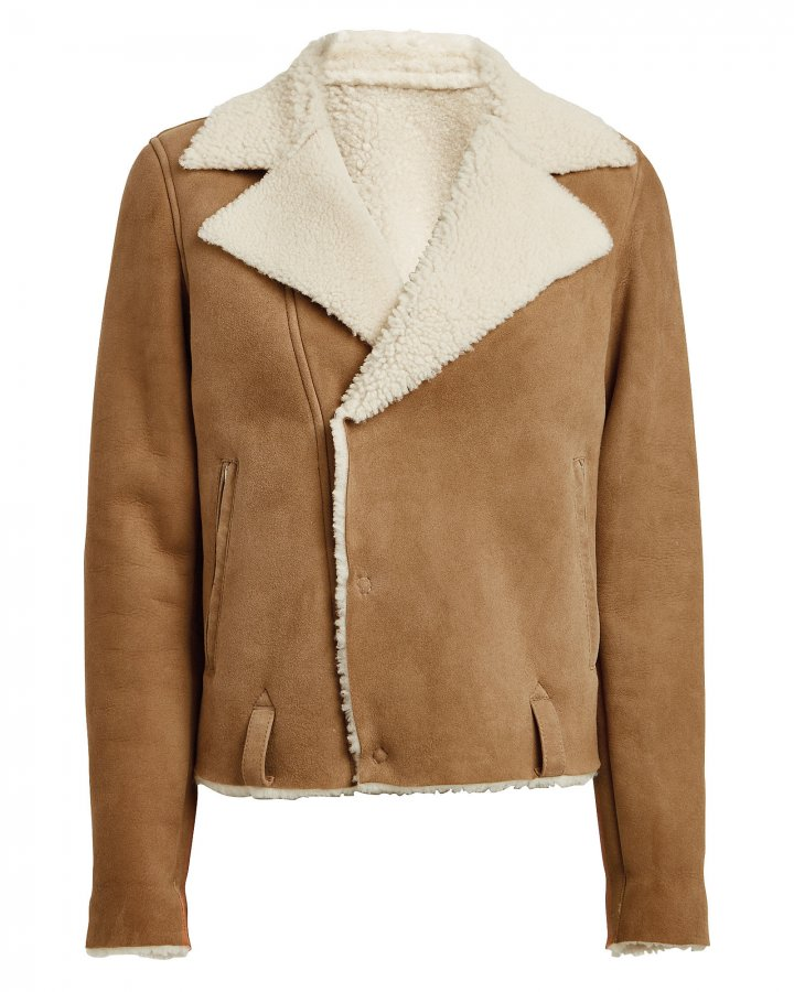 Savannah Cropped Shearling Jacket