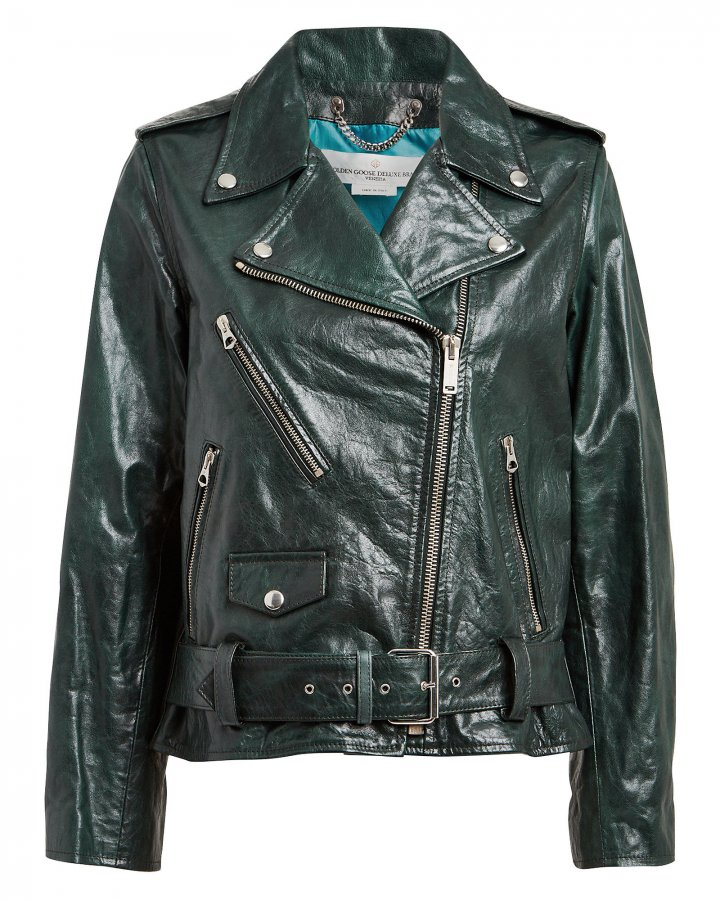 Chiodo Oversized Leather Moto Jacket