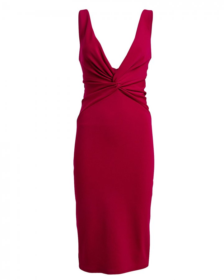 Zaza Twisted Crepe Sheath Dress