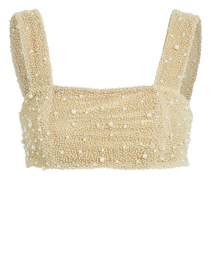 Mare Beaded Crop Top