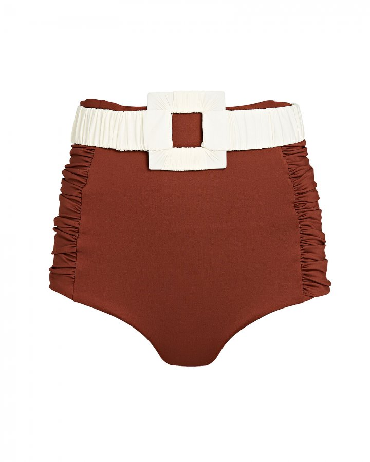 Watercourse High-Rise Belted Bikini Bottom