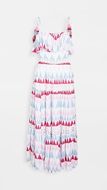 Le Ghessa Mosaic Print Maxi Sun Dress