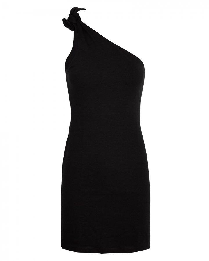 Knot One-Shoulder Mini Dress