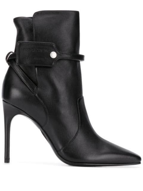 Off-White square-toe Ankle Booties