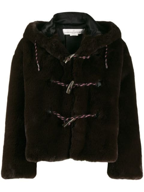 Golden Goose Faux Fur Hooded Duffle Coat Aw19 | Farfetch.com