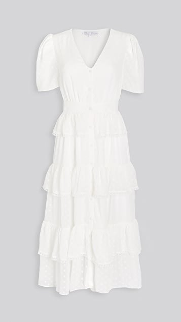 Tiered Midi Shirtdress