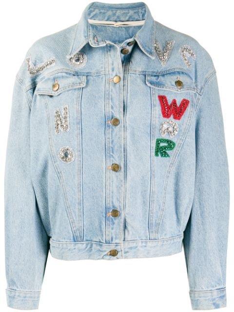 A.N.G.E.L.O. Vintage Cult 1980s Embellished Patchwork Denim Jacket