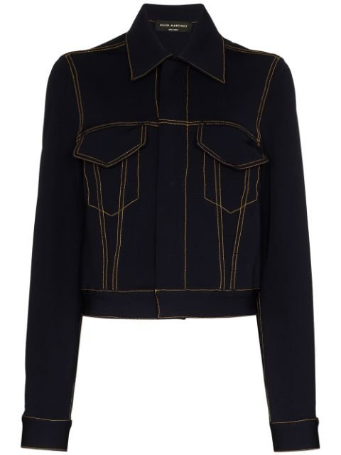 Alled-Martinez Cropped Denim Jacket