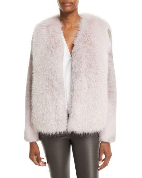 Fox-Fur Jacket w/ Mink-Fur Sleeves