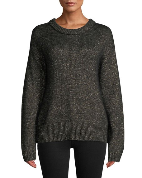 Bowen Metallic Pullover Sweater