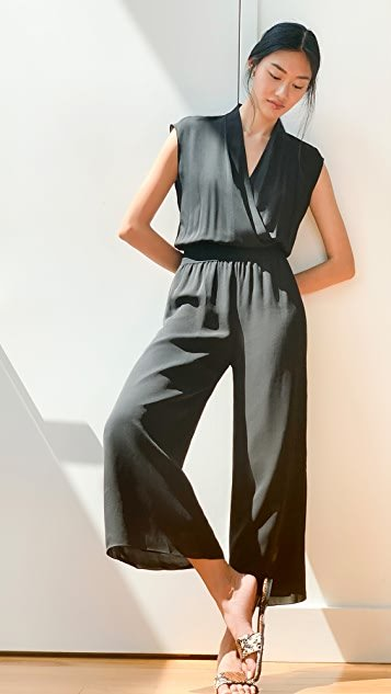 Draped Combo Jumpsuit