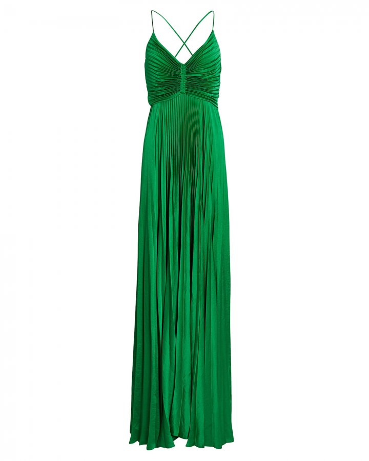 Aries Pleated Cut-Out Gown