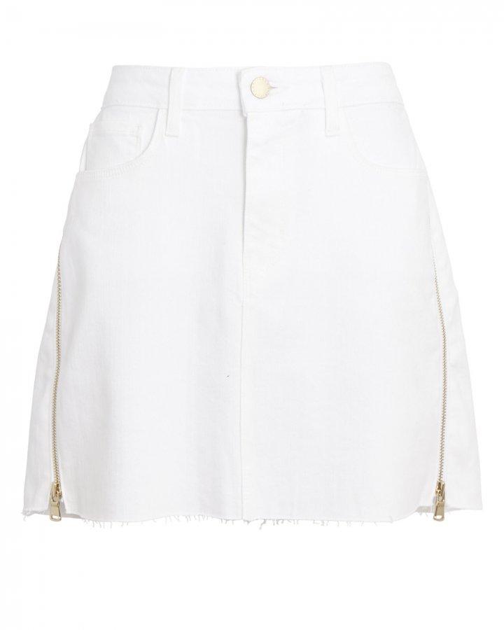 Allegra Side Zip Denim Mini Skirt