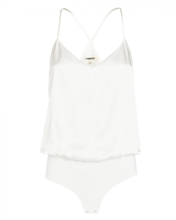 Mariela Sleeveless Silk Bodysuit