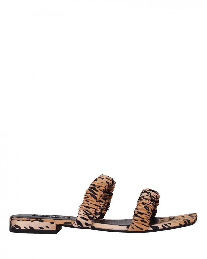 Harley II Leopard Satin Sandals