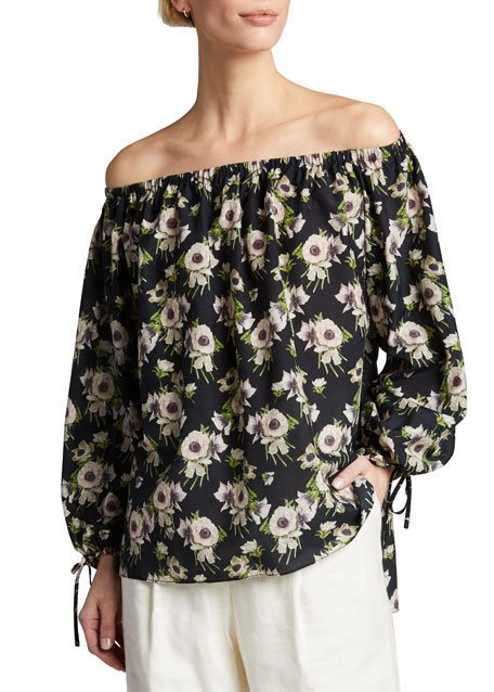 Off-the-Shoulder Floral Top