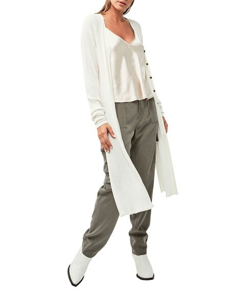 Malibu Side Slit Long Cardigan