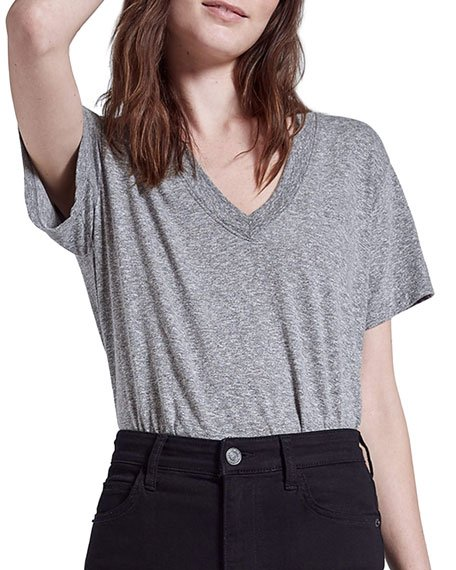 The Perfect V Heathered Tee