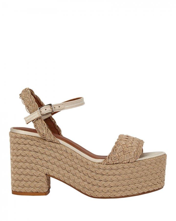 Xesqui Braided Rattan Platform Sandals