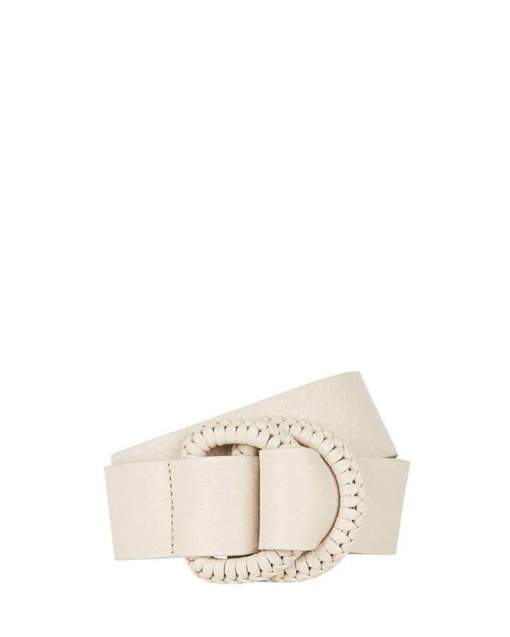 Emille Whipstitch Leather Belt