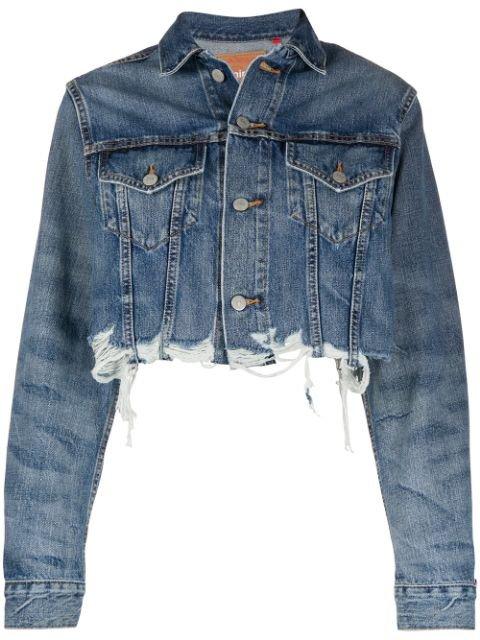 Denimist Cropped Distressed Effect Jacket