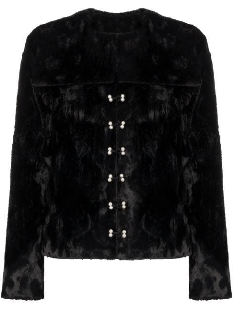 Shrimps Dexter Faux Fur Fitted Jacket