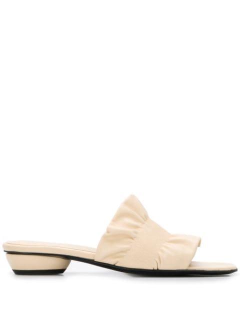 Dorateymur Ruched Strap Low-Heel Sandals Ss20 | Farfetch.com
