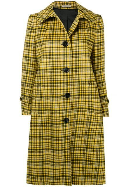 Bottega Veneta Plaid Coat Aw18 | Farfetch.com