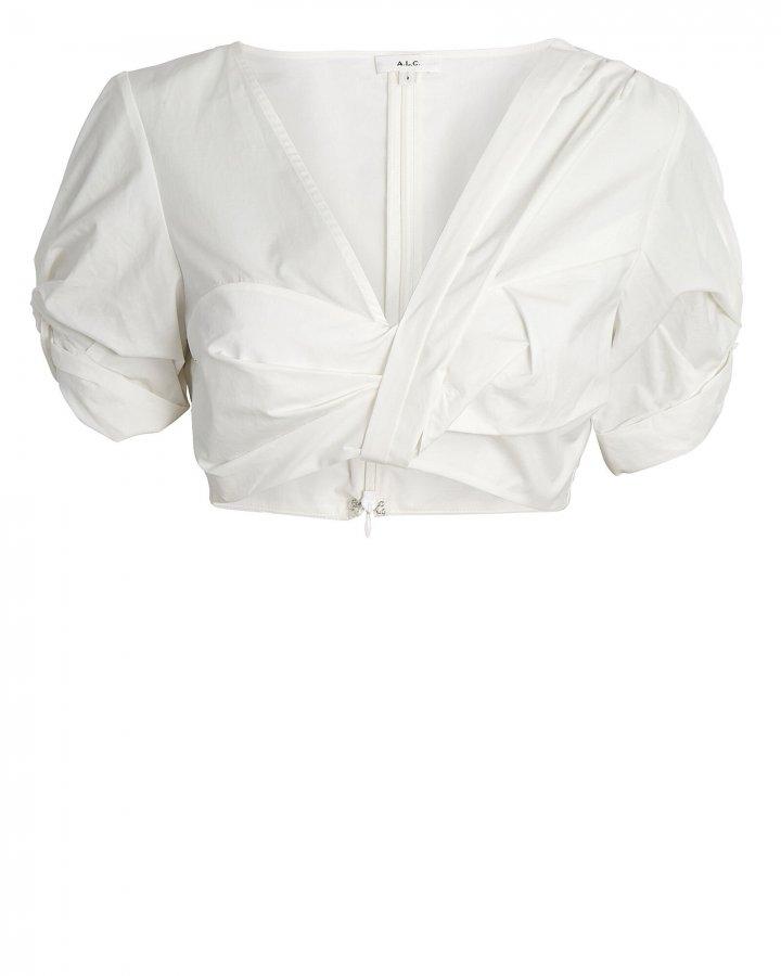 Ryan Puff Sleeve Cotton Crop Top