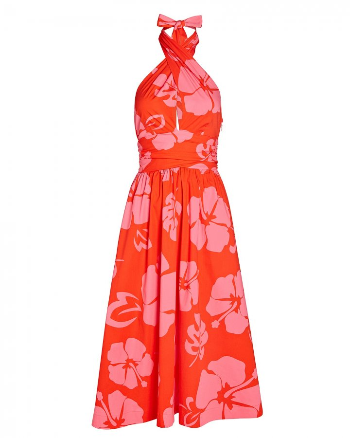 Moana Floral Halter Cotton Dress