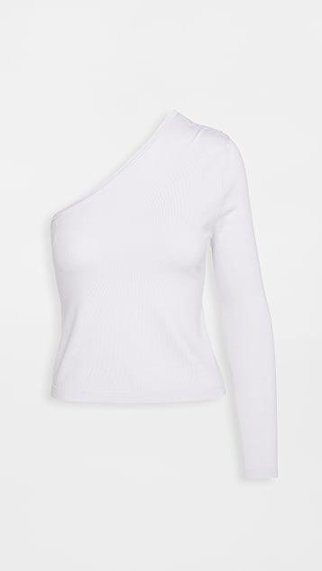 One Shoulder Knit Top