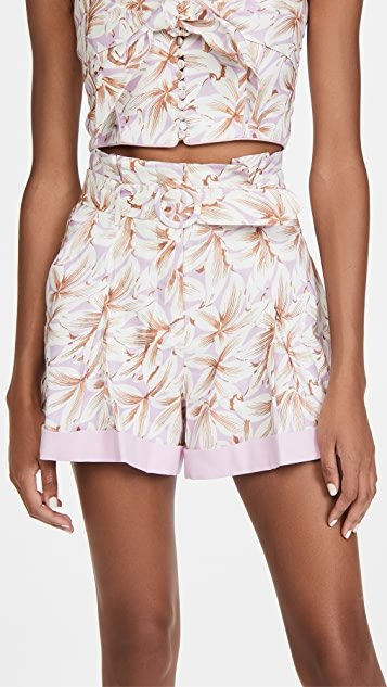 Lillian Floral Linen Shorts