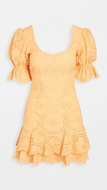 Meg Broderie Puff Sleeve Mini Dress