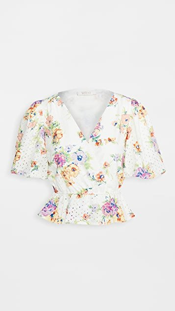 Pastel Floral Puff Sleeve Top