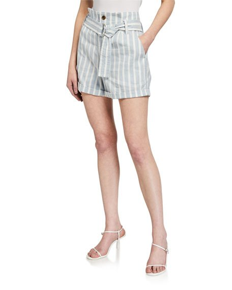 Casual Striped Linen Shorts