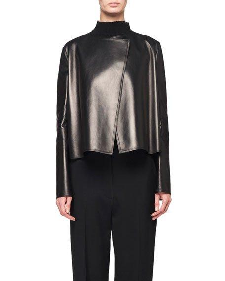 Lino Leather Short Jacket