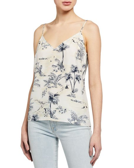 Mixed Toile V-Neck Cami
