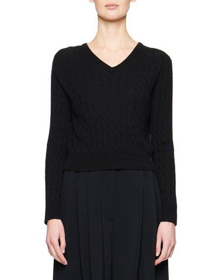 Rozanne Cashmere/Silk Crop Sweater