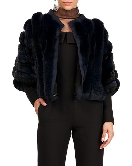 Chinchilla And Sable Fur Jacket