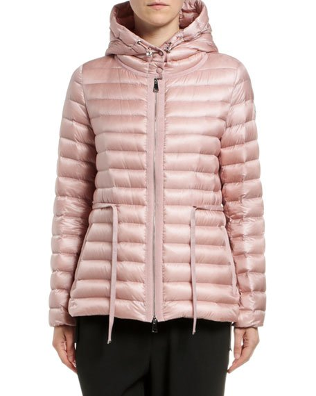 Raie Horizontal Drawstring Puffer Coat
